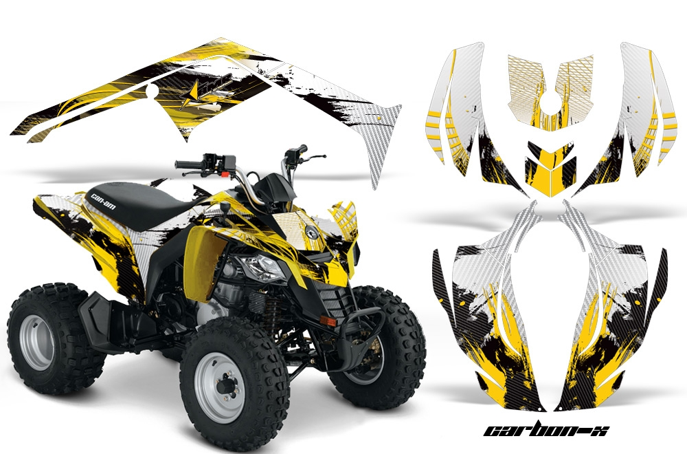 Can-Am Bombardier DS250 Graphics Kit CARBON X YELLOW