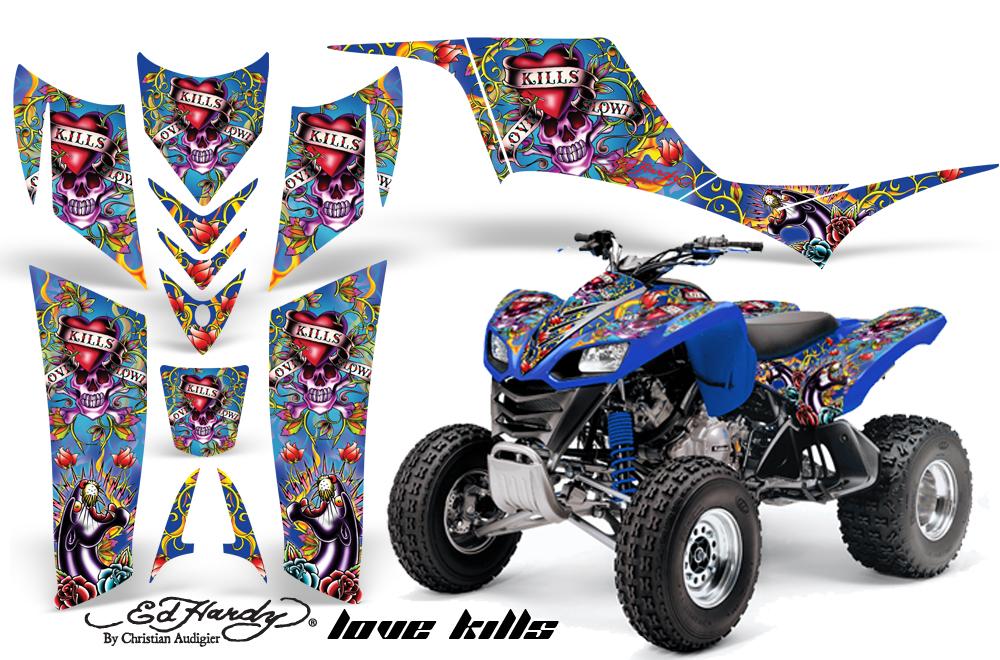 Kawasaki KFX 700 Graphics ed hardy-love kills-blue (504 of ...